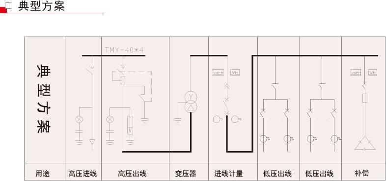 小区变电 一次接线图单母线分段